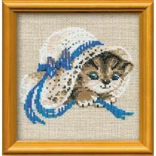 """Набор для вышивки Риолис 748 """"Котёнок в шляпе"""""""