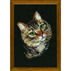 """Набор для вышивки Риолис 766 """"Серая кошка"""""""