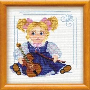 """Набор для вышивки Риолис 802 """"Кукла со скрипкой"""""""