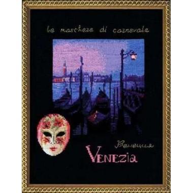 """Набор для вышивки крестом Риолис 921 """"Венеция. Розовая маска"""""""