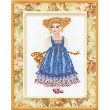 """Набор для вышивки Риолис 960 """"Кукла с тигром"""""""