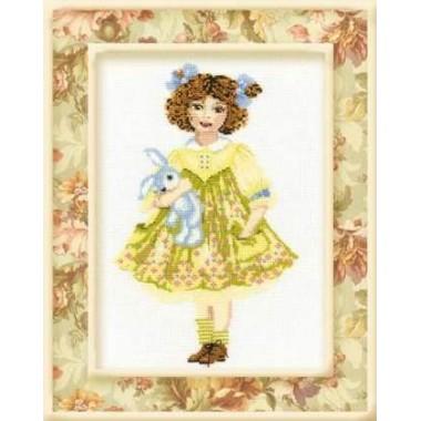 """Набор для вышивки Риолис 961 """"Кукла с зайцем"""""""