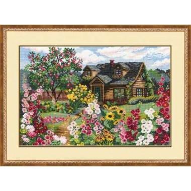"""Набор для вышивки крестом Риолис 978 """"Цветущий сад"""""""