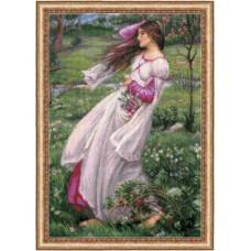 """Набор для вышивания Риолис 100/055 """"Ветреницы"""" по мотивам картины Д.У. Уотерхауса"""