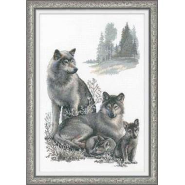 """Набор для вышивки крестом Риолис 100/021 """"Волки"""""""