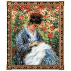 """Набор для вышивания Риолис 100/051 """"Мадам Моне за вышивкой"""" по мотивам картины К. Моне"""