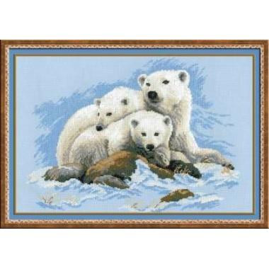 """Набор для вышивки крестом Риолис 1033 """"Белые медведи"""""""