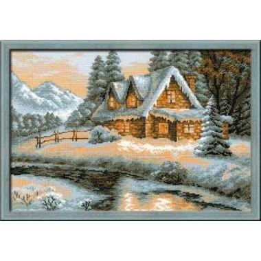 """Набор для вышивки крестом Риолис 1080 """"Зимний пейзаж"""""""