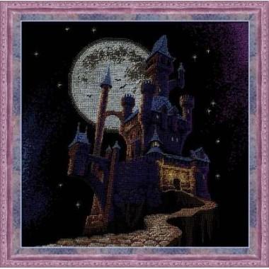 """Набор для вышивки крестом Риолис 1084 """"Ночной замок"""""""