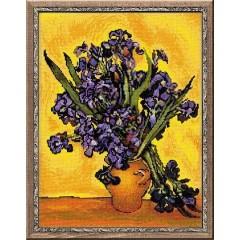 """Набор для вышивки крестом Риолис 1087 """"Ван Гог """"Ирисы"""""""