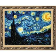 """Набор для вышивки крестом Риолис 1088 """"Ван Гог """"Звёздная ночь"""""""