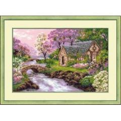 """Набор для вышивки крестом Риолис 1098 """"Весенний пейзаж"""""""
