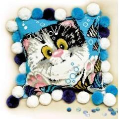 """Набор для вышивки Риолис 1100 Подушка """"Котёнок"""""""