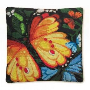 """Набор для вышивки Риолис 1119 Подушка """"Экзотические бабочки"""""""