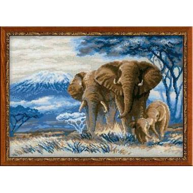 """Набор для вышивки Риолис 1144 """"Слоны в саванне"""""""