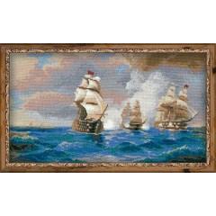 """Набор для вышивки Риолис 1154 """"Бриг """"Меркурий"""", атакованный двумя турецкими кораблями"""""""