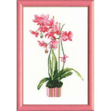 """Набор для вышивки крестом Риолис 1162 """"Розовая орхидея"""""""