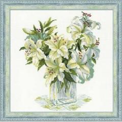 """Набор для вышивки крестом Риолис 1169 """"Белые лилии"""""""