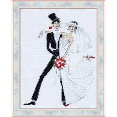 """Набор для вышивки крестом Риолис 1179 """"Свадебное танго"""""""