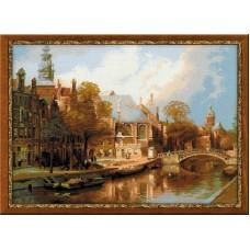 """Набор для вышивки Риолис 1189 """"Амстердам. Старая церковь и Церковь св. Николая Чудотворца"""""""