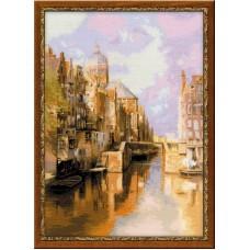 "Набор для вышивки Риолис 1190 ""Амстердам. Канал Аудезейтс Форбургвал"""