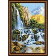 """Набор для вышивки Риолис 1194 """"Пейзаж с водопадом"""""""