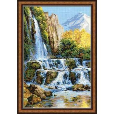 """Набор для вышивки крестом Риолис 1194 """"Пейзаж с водопадом"""""""