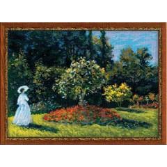 """Набор для вышивки крестом Риолис 1225 """"Дама в саду"""" по мотивам картины К.Моне"""""""