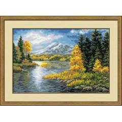 """Набор для вышивки Риолис 1235 """"Озеро в горах"""""""