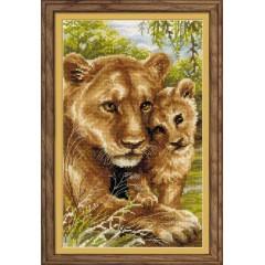 """Набор для вышивки Риолис 1262 """"Львица с львёнком"""""""