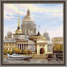 """Набор для вышивания Риолис 1283 """"Санкт-Петербург. Адмиралтейская набережная"""""""