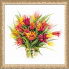 """Набор для вышивки Риолис 1293 """"Тюльпаны в вазе"""""""