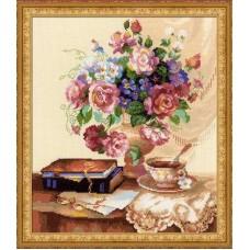 """Набор для вышивки Риолис 1302 """"Цветочный этюд"""""""