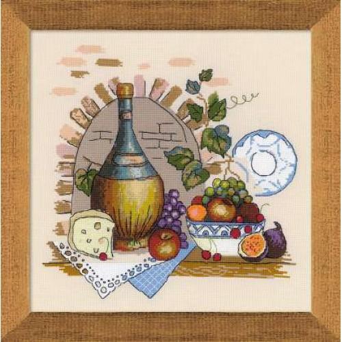 Вышивка натюрморт с сыром
