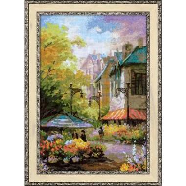 """Набор для вышивки Риолис 1306 """"Цветочная улица"""""""