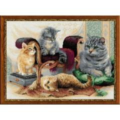 """Набор для вышивки Риолис 1327 """"Кошачье семейство"""""""