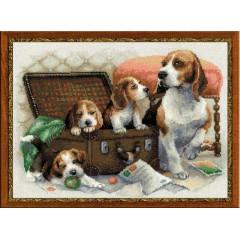 """Набор для вышивки Риолис 1328 """"Собачье семейство"""""""