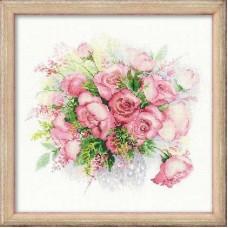 """Набор для вышивания Риолис 1335 """"Акварельные розы"""""""