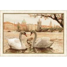"Набор для вышивки Риолис 1364 ""Лебеди. Прага"""