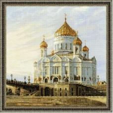 "Набор для вышивки Риолис 1371 ""Москва. Храм Христа Спасителя"""