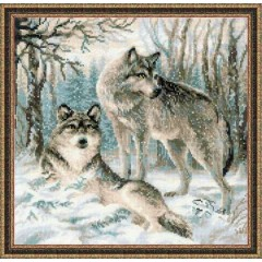 """Набор для вышивки Риолис 1393 """"Волчья пара"""""""