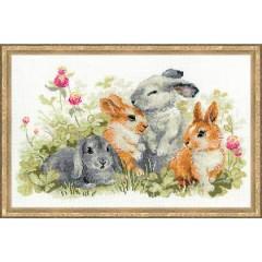 """Набор для вышивания Риолис 1416 """"Забавные крольчата"""""""