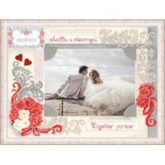 """Набор для вышивки Риолис 1423 Панно для фотографии """"Любви и счастья"""""""