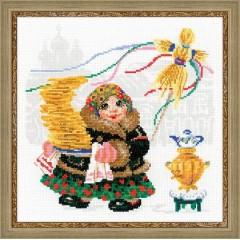 """Набор для вышивания Риолис 1518 """"Масленица. Блины"""""""