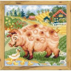 """Набор для вышивки Риолис 1523 """"Хуторок. Свинка"""""""