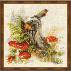 """Набор для вышивания Риолис 1545 """"Пенек с мухоморами"""""""