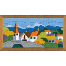 """Набор для вышивки Риолис 1630 """"Городок в горах"""""""