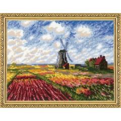 """Набор для вышивки Риолис 1643 """"Поле с тюльпанами"""" по мотивам картины К. Моне"""""""