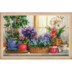 """Набор для вышивки Риолис 1669 """"Подоконник с цветами"""""""