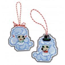 Набор для вышивания Риолис 1682АС Новогодние игрушки Собачки